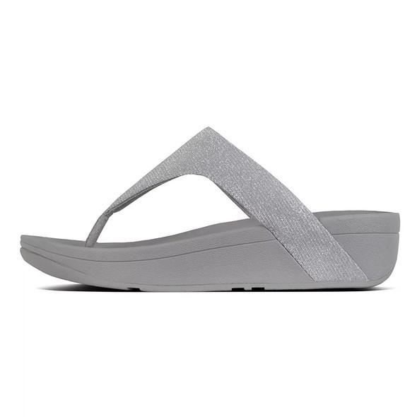 FitFlop™ Lottie Glitzy Toe-Thongs Silver side