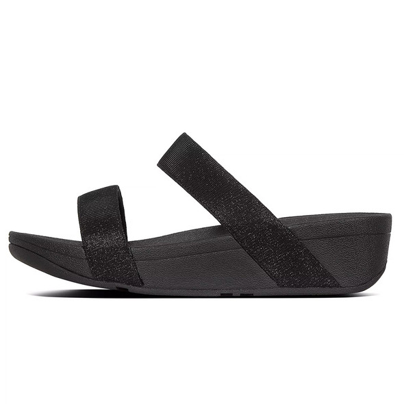 FitFlop™ Lottie Glitz™ Slide Black side