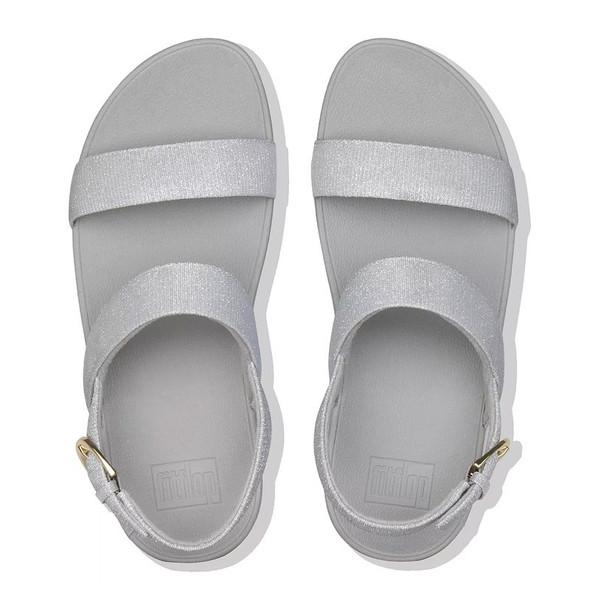 FitFlop™ Lottie Glitz™ Sandal Silver top
