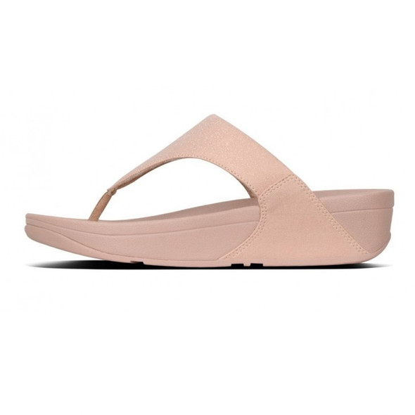 FitFlop™ Lulu Shimmer Rose Gold side