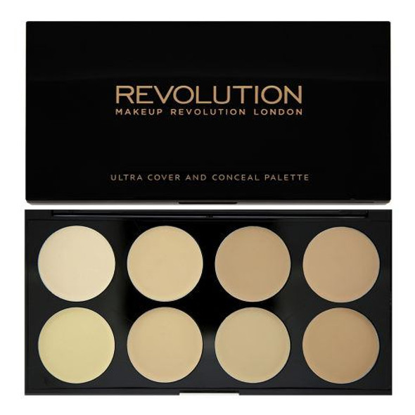 Revolution Ultra Cover and Conceal Palette - Light front