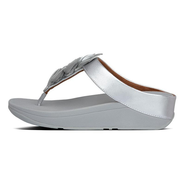 FitFlop Fino Leaf Toe-Post Silver side