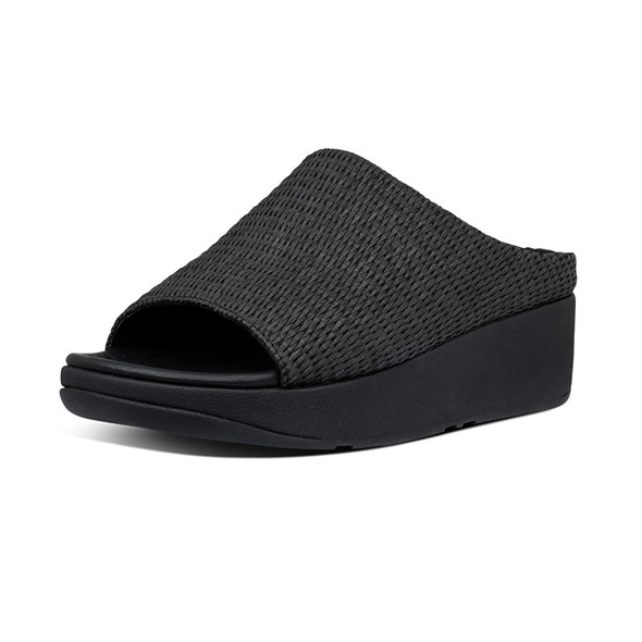 FitFlop Imogen Basket-Weave Slide All Black