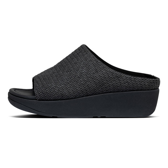 FitFlop Imogen Basket-Weave Slide All Black side