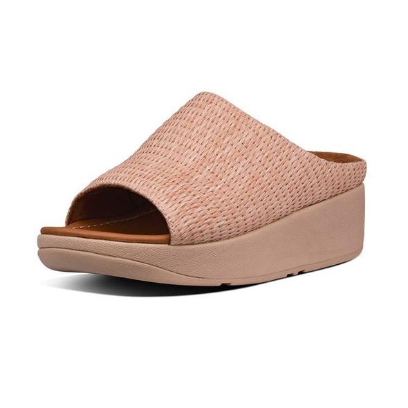 FitFlop Imogen Basket-Weave Slide Soft Pink