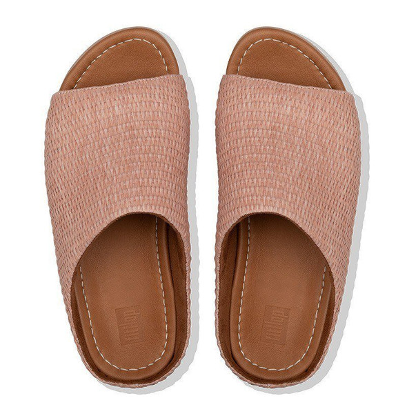 FitFlop Imogen Basket-Weave Slide Soft Pink top