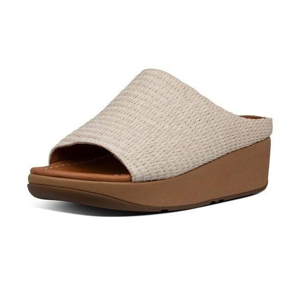 FitFlop Imogen Basket-Weave Slide Stone