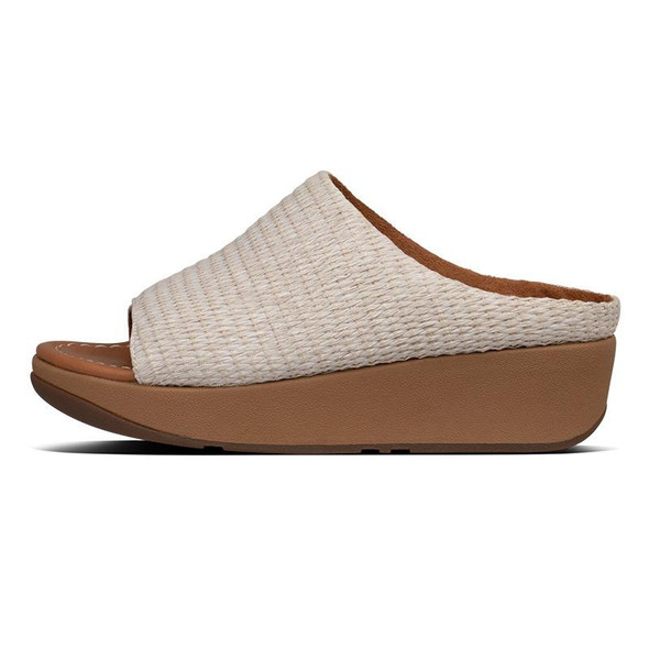 FitFlop Imogen Basket-Weave Slide Stone side