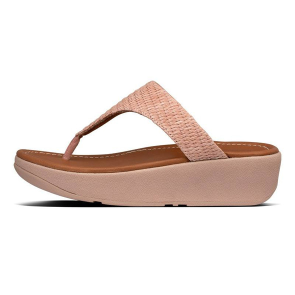 FitFlop Imogen Basket-Weave Toe-Post Soft Pink side