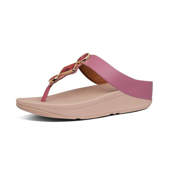 FitFlop Leia Toe-Post Heather Pink
