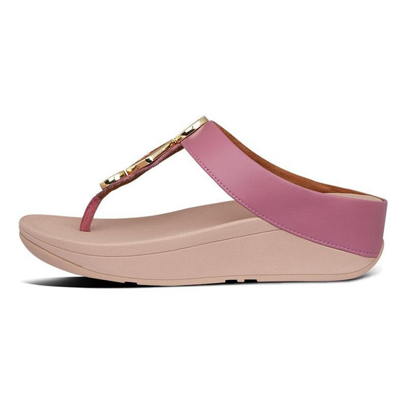 FitFlop Leia Toe-Post Heather Pink side