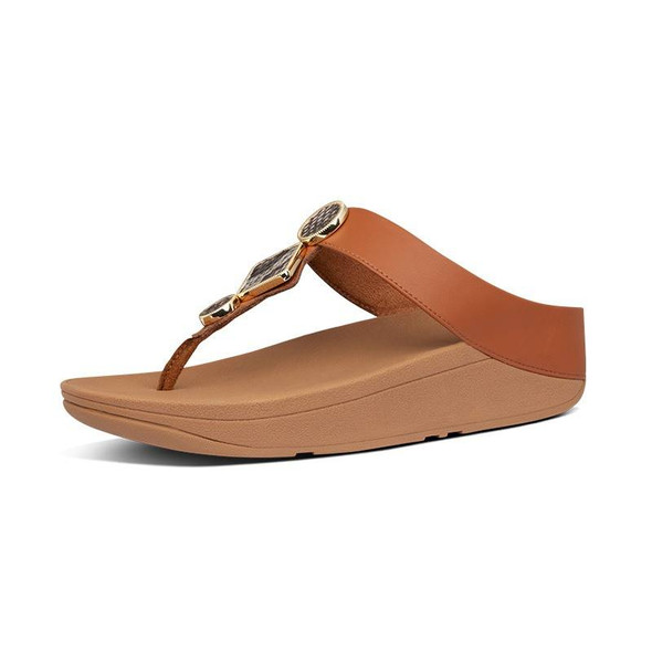 FitFlop Leia Toe-Post Light Tan