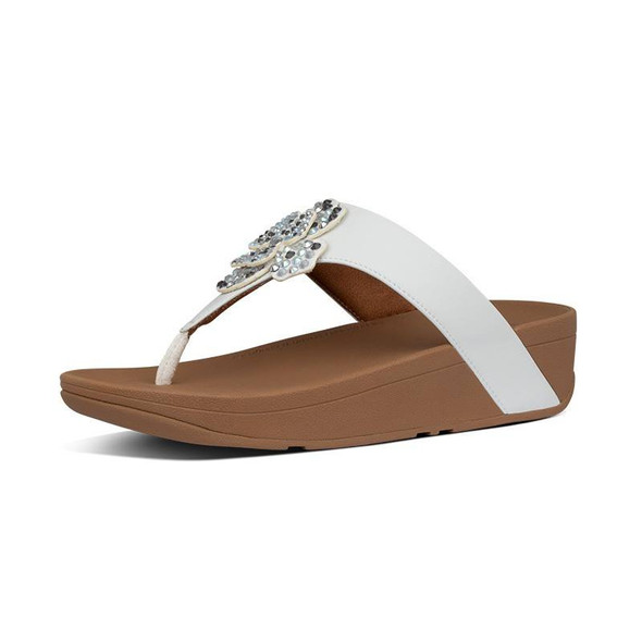 FitFlop Lottie Corsage Toe-Post Urban White