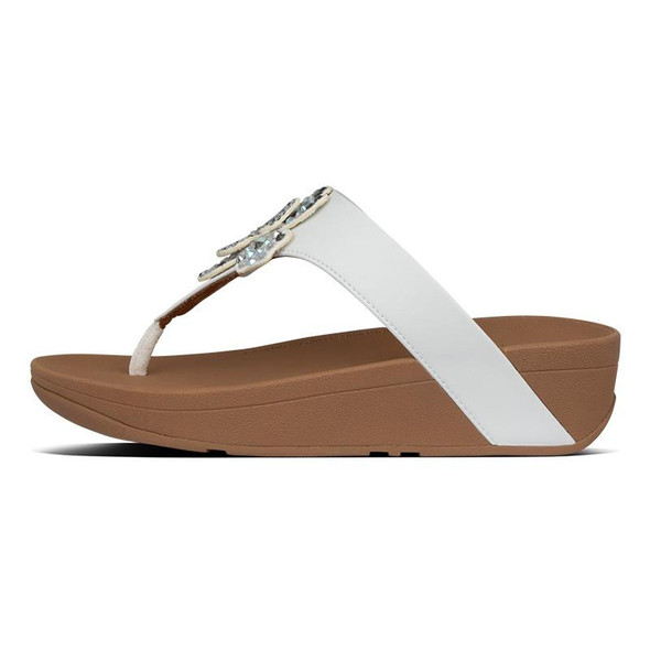 FitFlop Lottie Corsage Toe-Post Urban White side