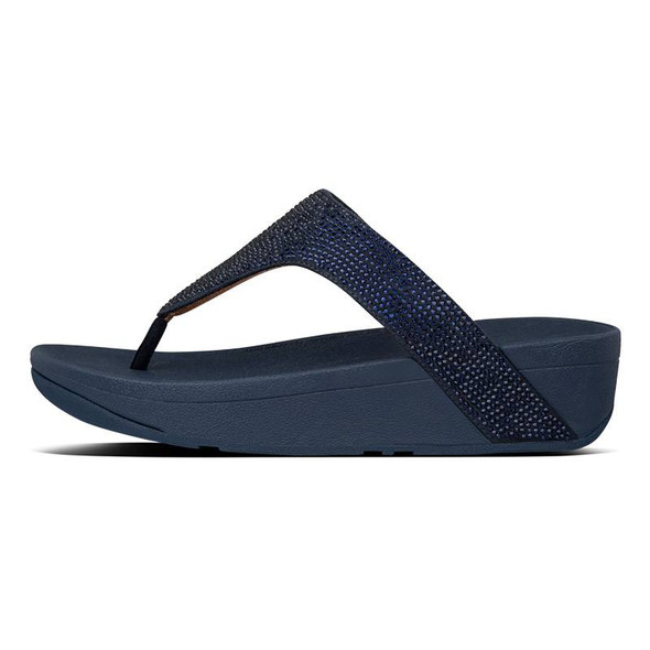 FitFlop Lottie ShimmerCrystal  Toe-Post Midnight Navy side