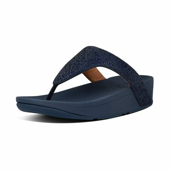 FitFlop Lottie ShimmerCrystal  Toe-Post Midnight Navy