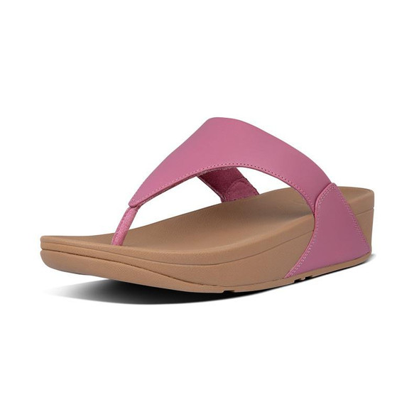 FitFlop Lulu Leather Toe-Post Heather Pink