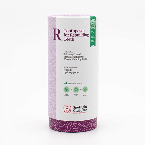 Spotlight Oral Care Toothpaste for Rebuilding Teeth box