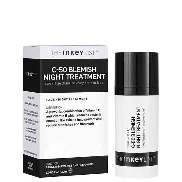The Inkey List C-50 Blemish Night Treatment 30ml