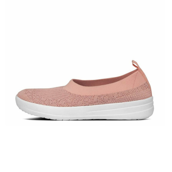 FitFlop Marble Knit Ballerina Coral side