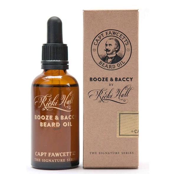 Captain Fawcett's Ricki Hall's Booze And Baccy Beard Oil 50ml