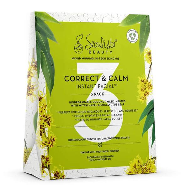 Seoulista Beauty Correct & Calm Instant Facial - 3 Pack