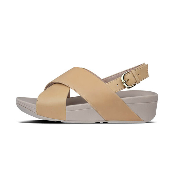 FitFlop Lulu Leather Sandals Blush Side