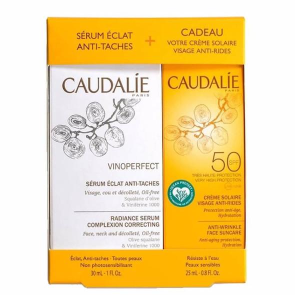 Caudalie Vinoperfect Radiance Serum Complexion Correcting 30ml with Free Gift