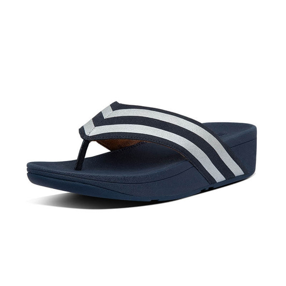 FitFlop Millie Metallic Stripe Toe Post Navy
