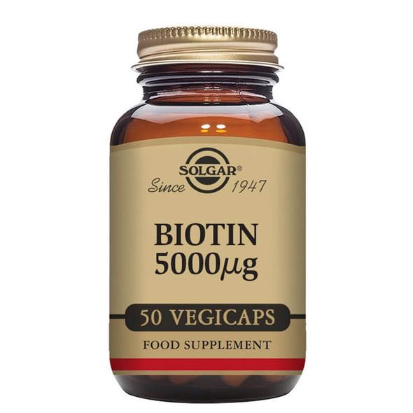 Solgar Biotin 5000 µg - 50 Capsules