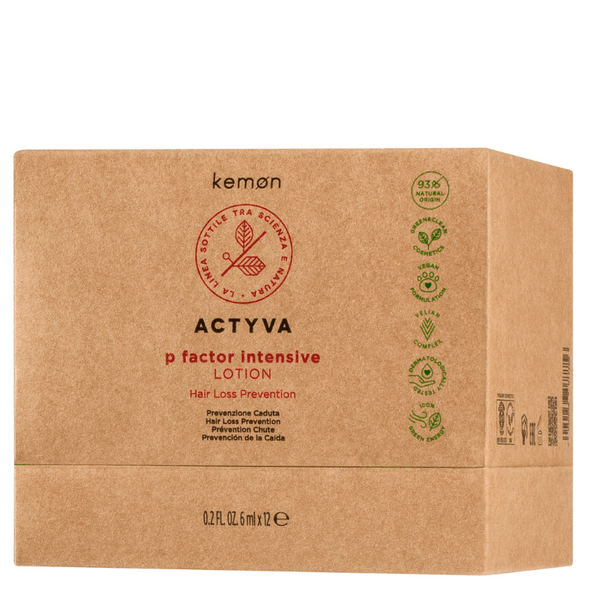 Actyva P Factor Intensive Lotion Hair Loss Prevention 6ml x 12 Vials Box