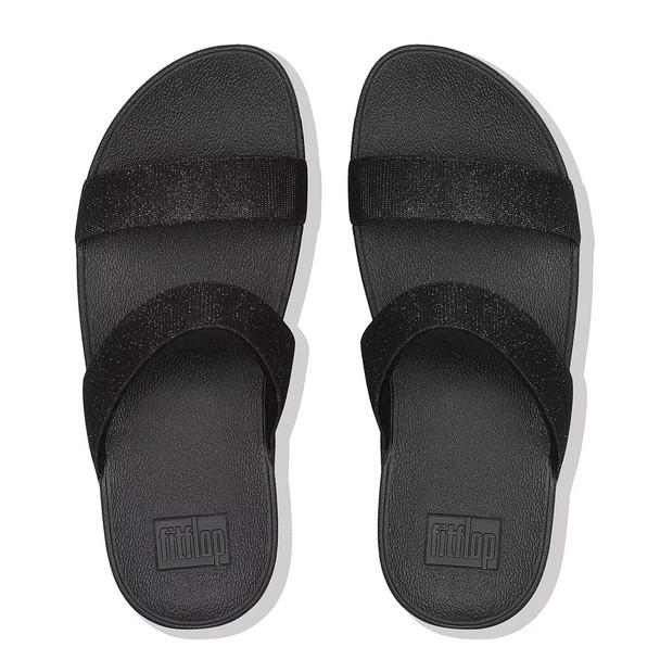 FitFlop™ Lottie Glitz™ Slide Black top