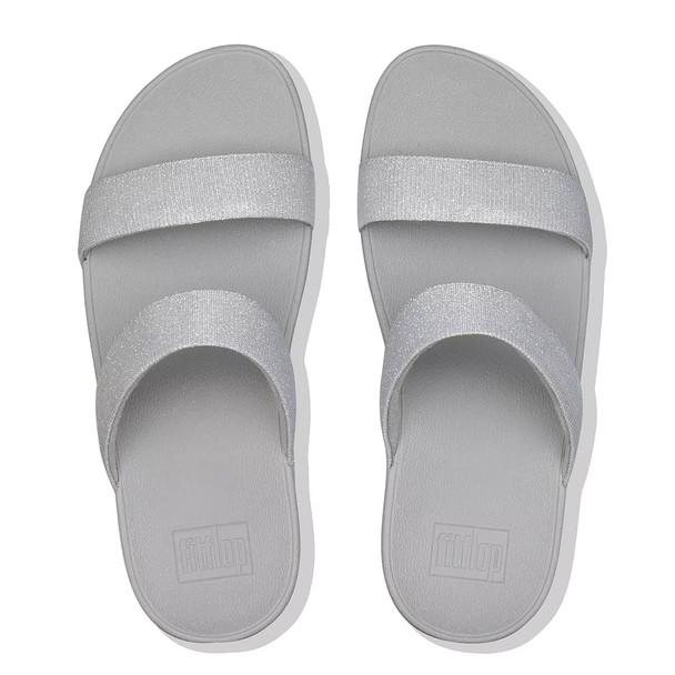 FitFlop™ Lottie Glitz™ Slide Silver top