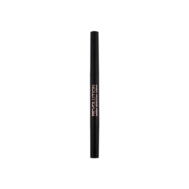 Revolution Duo Brow Pencil Dark Brown open