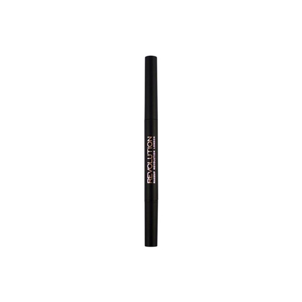 Revolution Duo Brow Pencil Medium Brown open