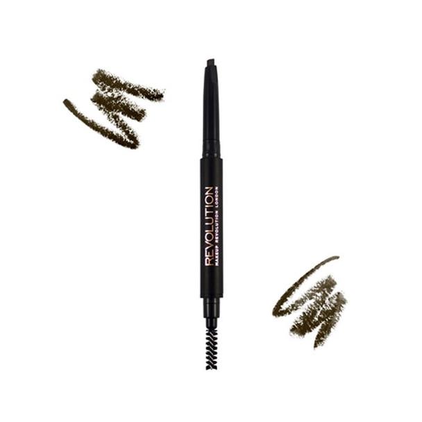 Revolution Duo Brow Pencil Medium Brown example