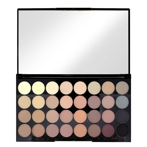 Revolution Ultra 32 Shade Eyeshadow Palette - Flawless Matte open