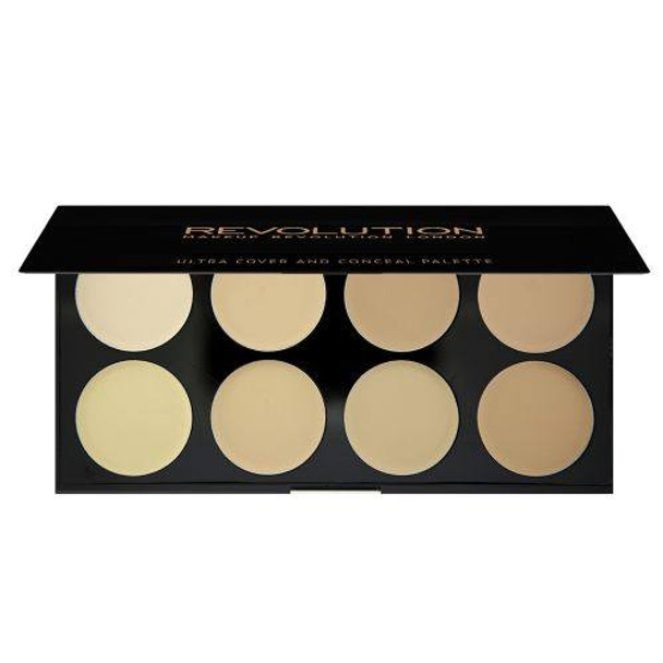 Revolution Ultra Cover and Conceal Palette - Light open