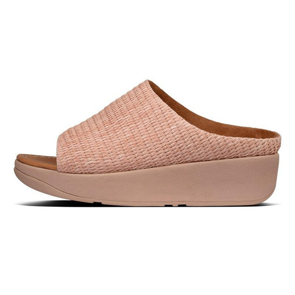 FitFlop Imogen Basket-Weave Slide Soft Pink side
