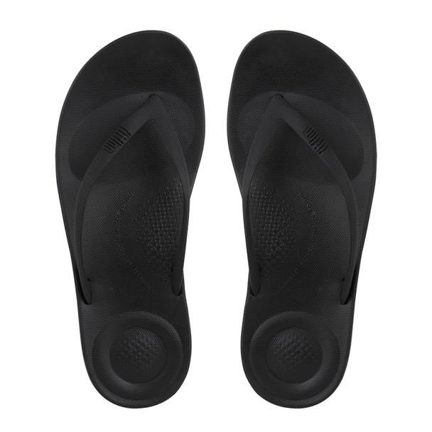 FitFlop iQushion Ergonomic Sandals All Black top