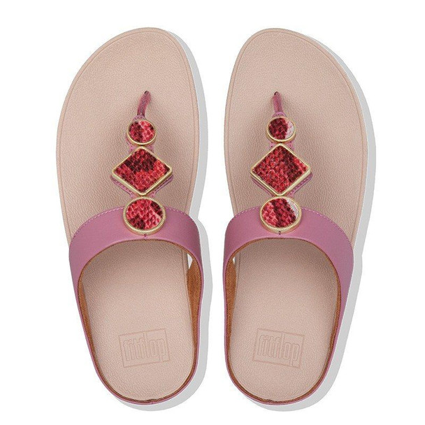 FitFlop Leia Toe-Post Heather Pink top