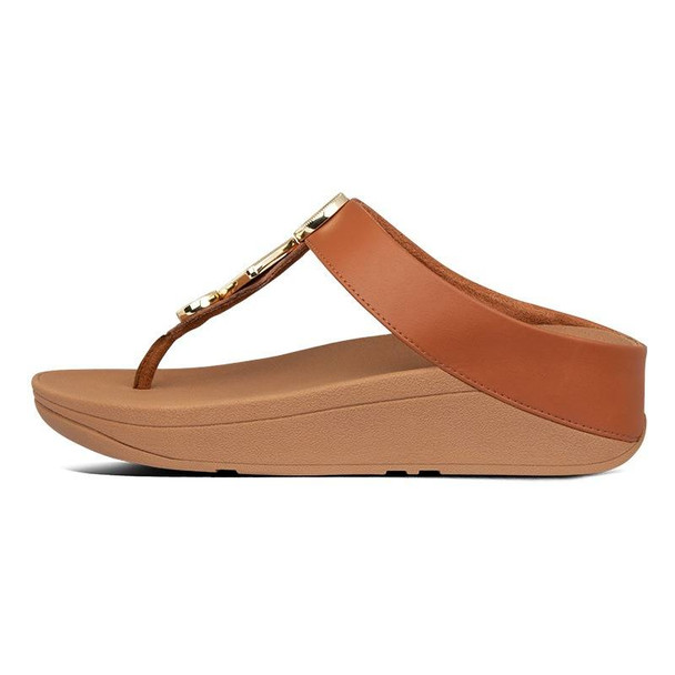 FitFlop Leia Toe-Post Light Tan side