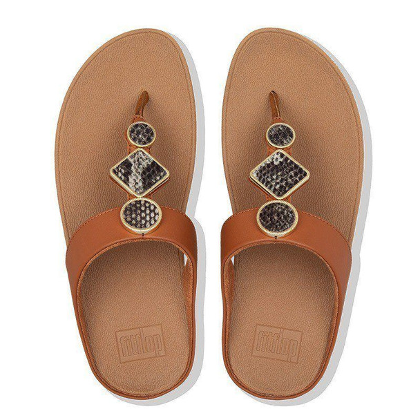 FitFlop Leia Toe-Post Light Tan top