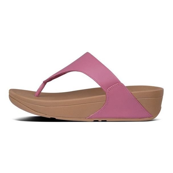 FitFlop Lulu Leather Toe-Post Heather Pink side