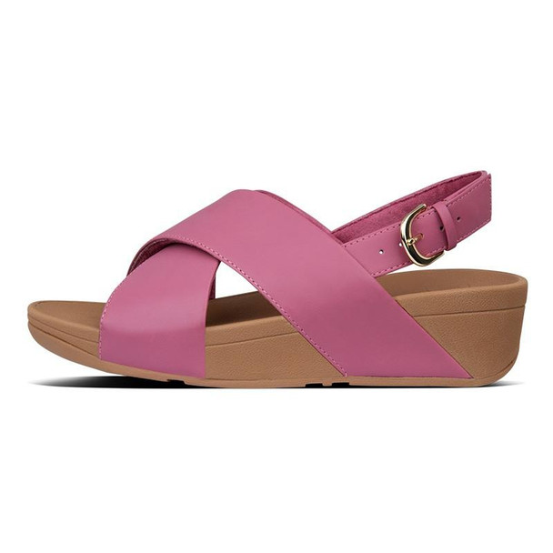 FitFlop Lulu Sandals Leather Heather Pink side