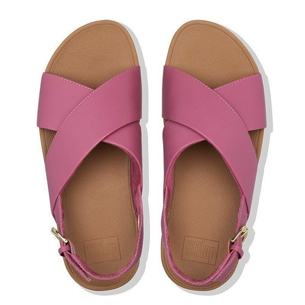 FitFlop Lulu Sandals Leather Heather Pink top