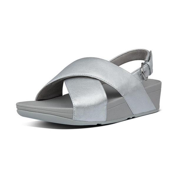 FitFlop Lulu Sandals Leather Silver