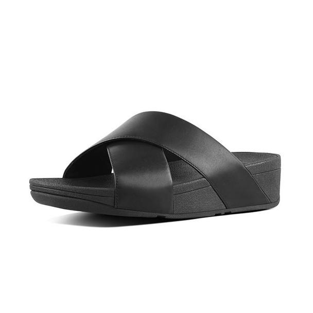 FitFlop Lulu Slide Leather Black