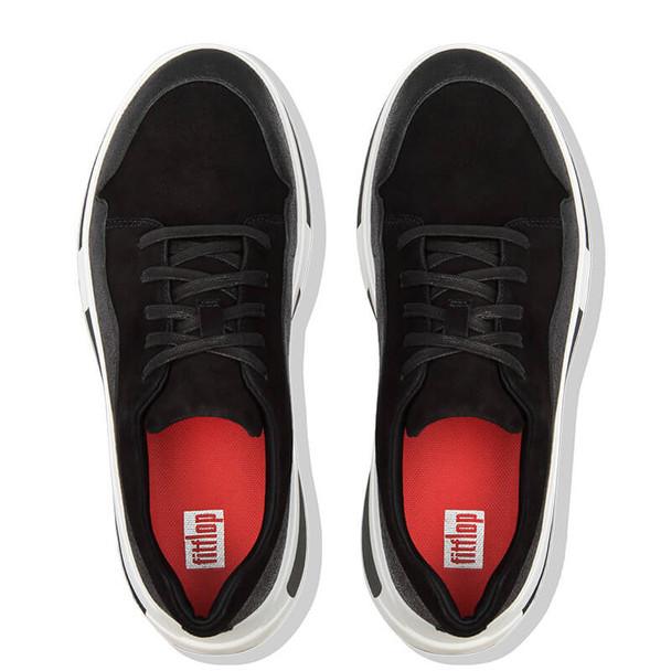 FitFlop Freya Suede Sneaker Black Top