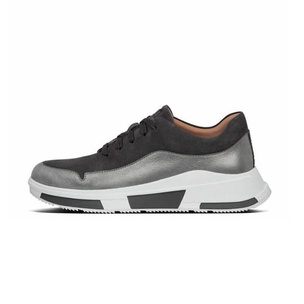 FitFlop Freya Suede Sneaker Black Side
